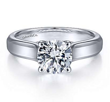 Load image into Gallery viewer, Gabriel Round Diamond Engagement Ring 6583w4