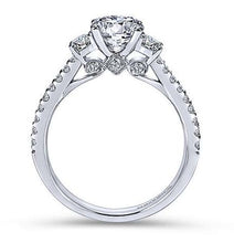 Load image into Gallery viewer, Gabriel Three Stone Diamond Engagement Ring 7296w45