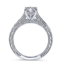 Load image into Gallery viewer, Gabriel Round Diamond Engagement Ring 12315R3
