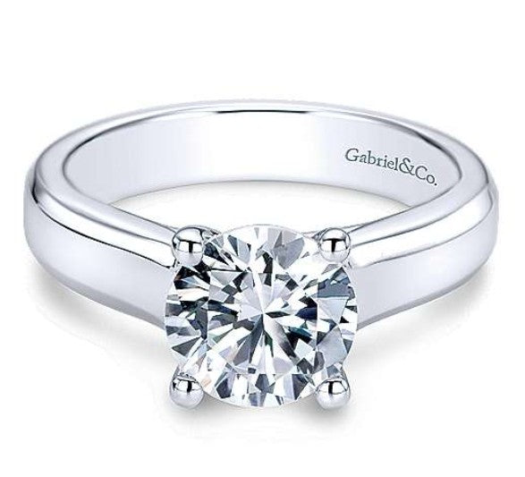 Gabriel Round Diamond Engagement Ring 9428w4