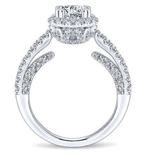 Load image into Gallery viewer, Gabriel Round Halo Diamond Engagement Ring 12950R5
