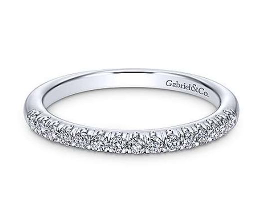 Gabriel Diamond Wedding Band 10300W44