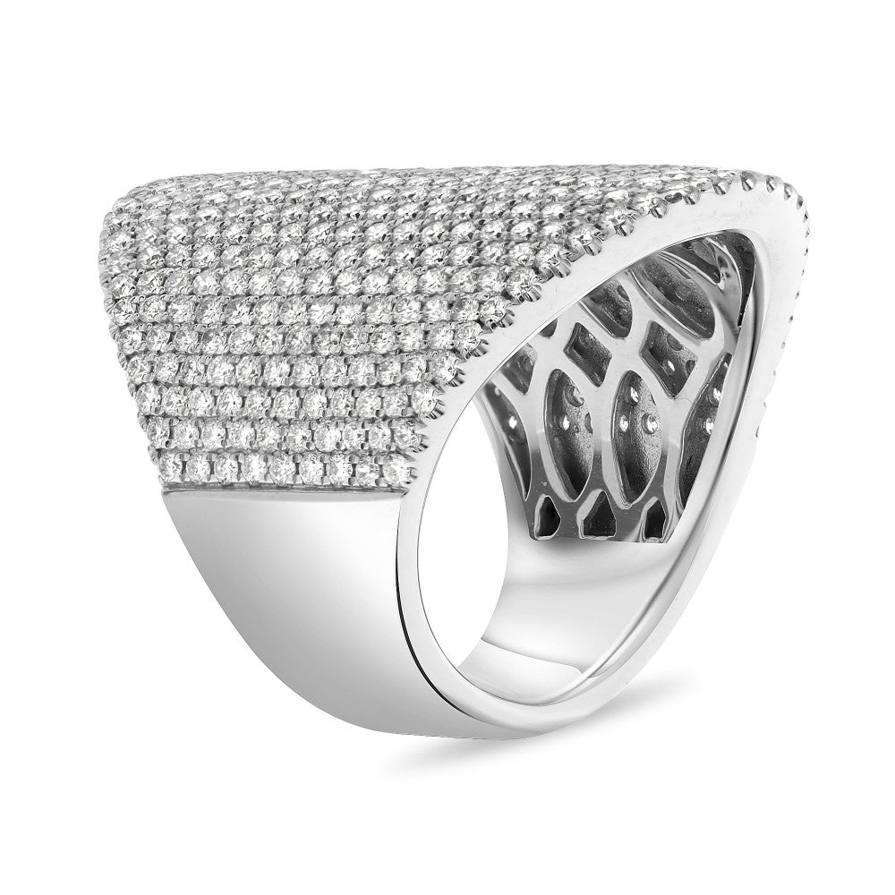 Roman & Jules 14K White Gold Shield Ring