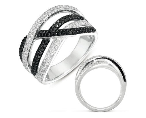 Roset Black & White Diamond Fashion Ring