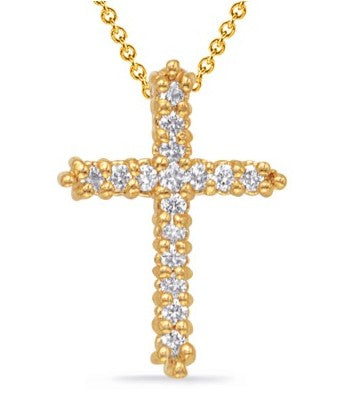 Roset Diamond Cross Pendant