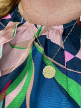 Load image into Gallery viewer, Roset Gold Label Sand Dollar Medallion Necklace