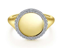 Load image into Gallery viewer, Gabriel Gold & Diamond Halo Signet Ring