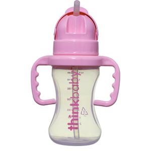 Thinkbaby Thinkster 9oz Straw Bottle - Pink - lisa rankin