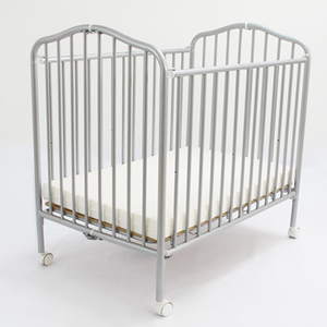 L.A. Baby Commercial Compact Folding Metal Crib - lisa rankin