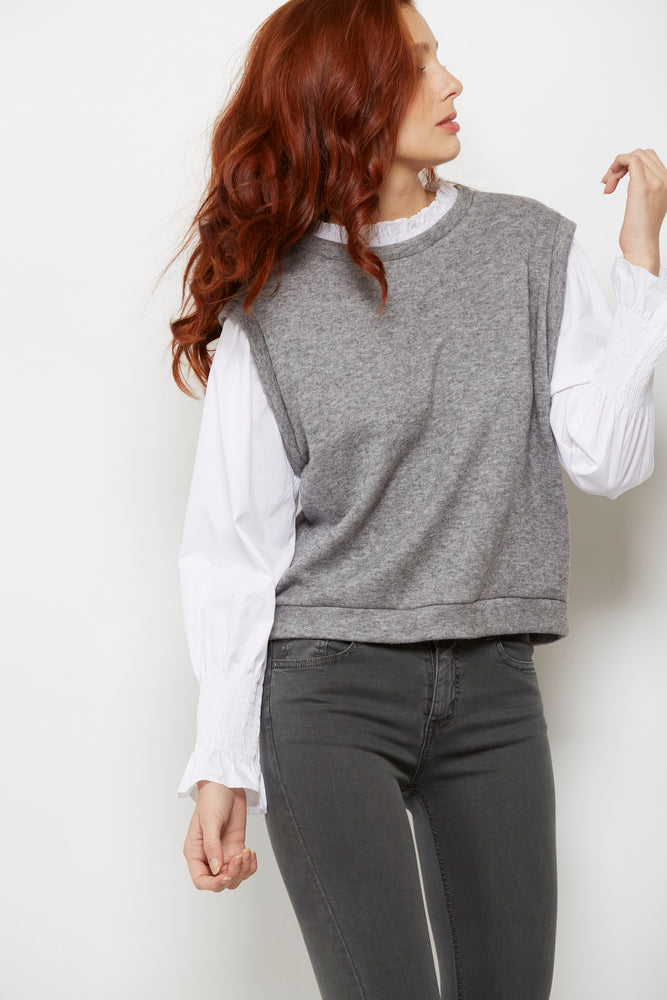 CAMISA CHALECO GRIS