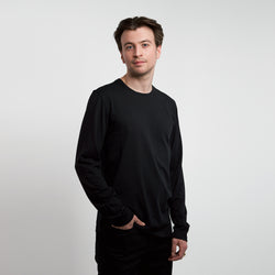 Long sleeve t-shirt men black