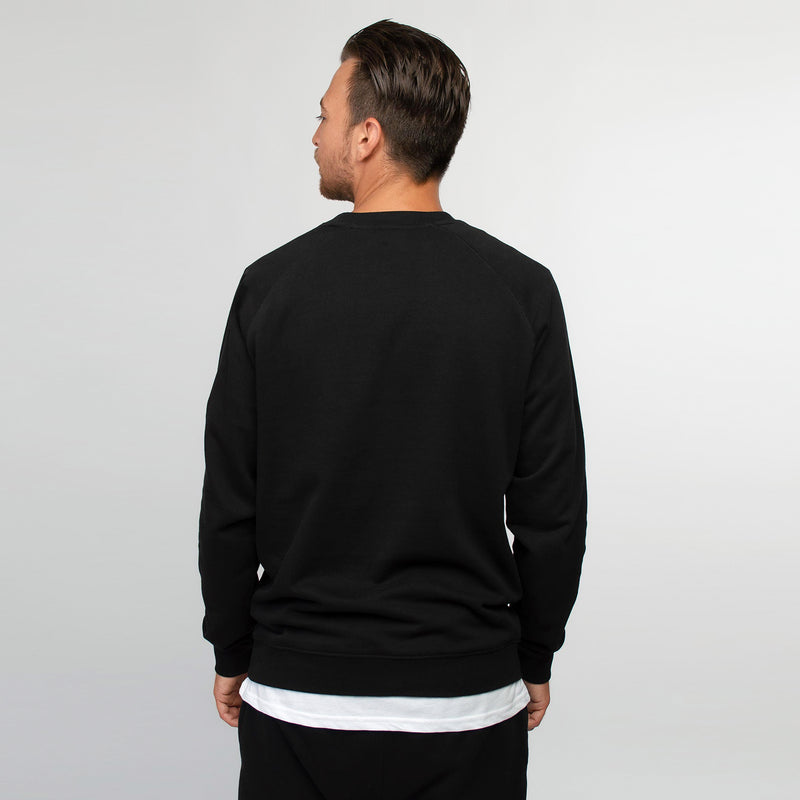 Crew neck sweater men black - HONEST BASICS