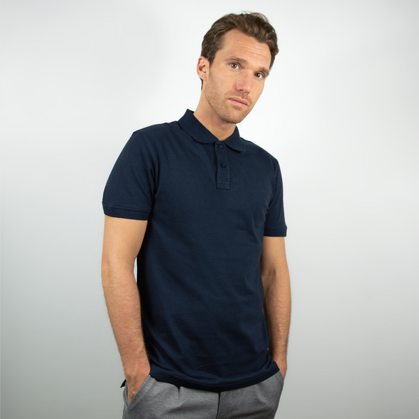 Polo men dark navy - HONEST BASICS