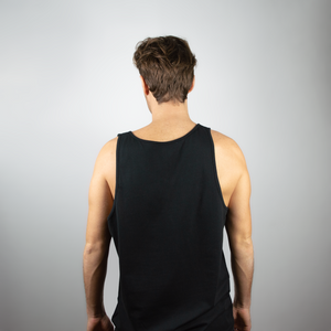 Loose tank top men black