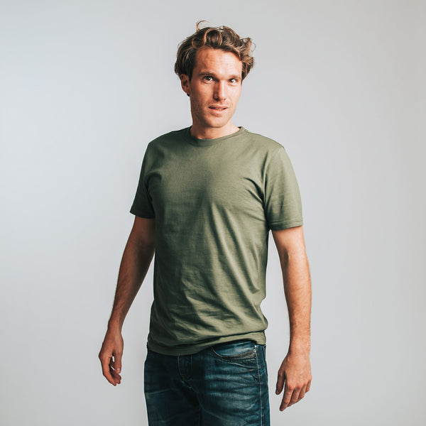 T-shirt men khaki - HONEST BASICS
