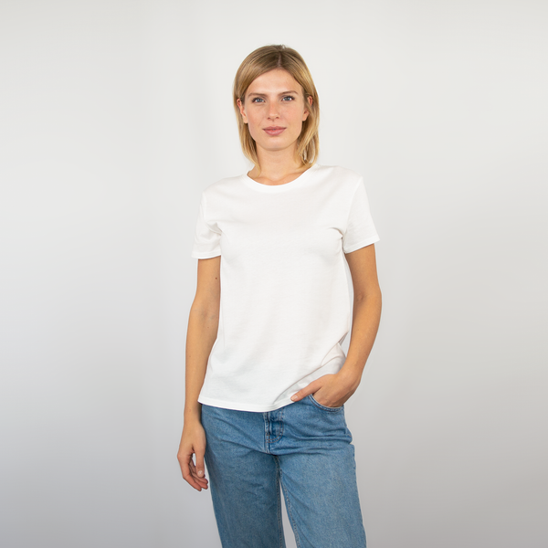 T-shirt women off-white - HONEST BASICS