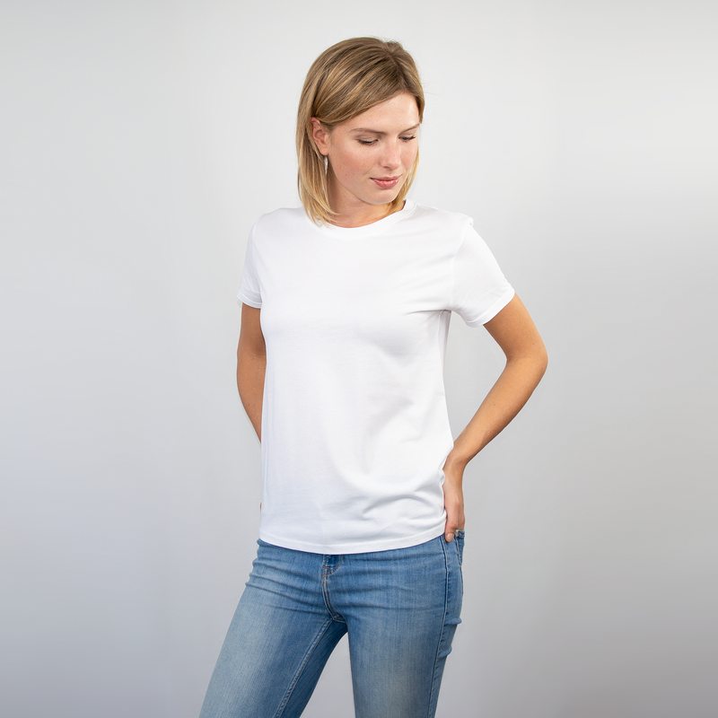 T-shirt women white - HONEST BASICS