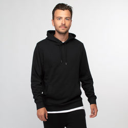 Hoodie black men - HONEST BASICS