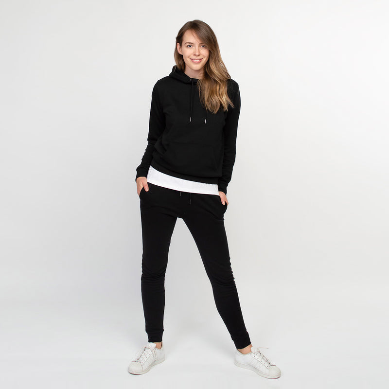 Hoodie women black - HONEST BASICS