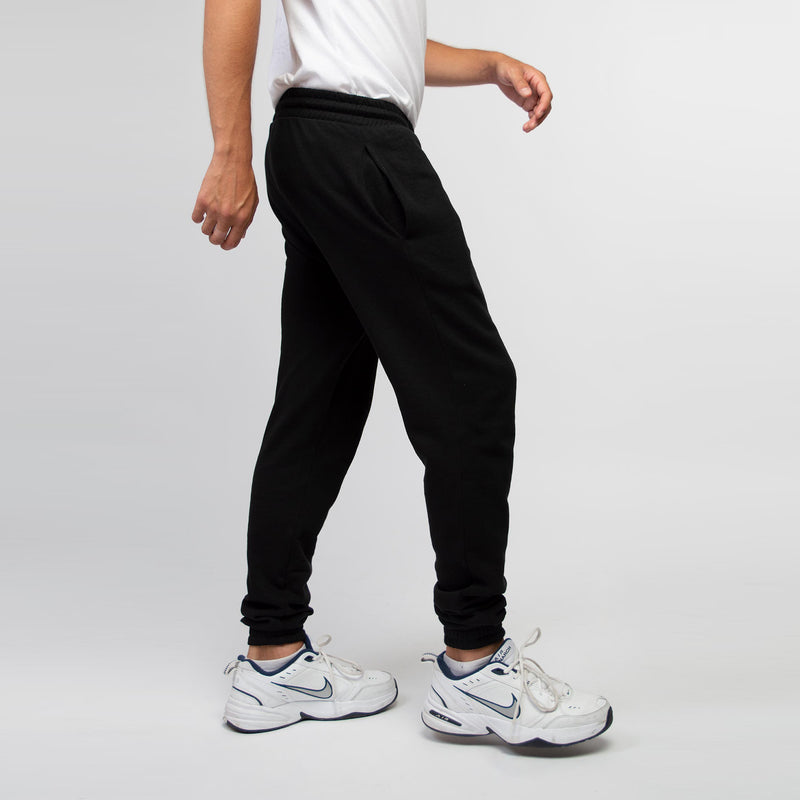 Jogging pants men black - HONEST BASICS
