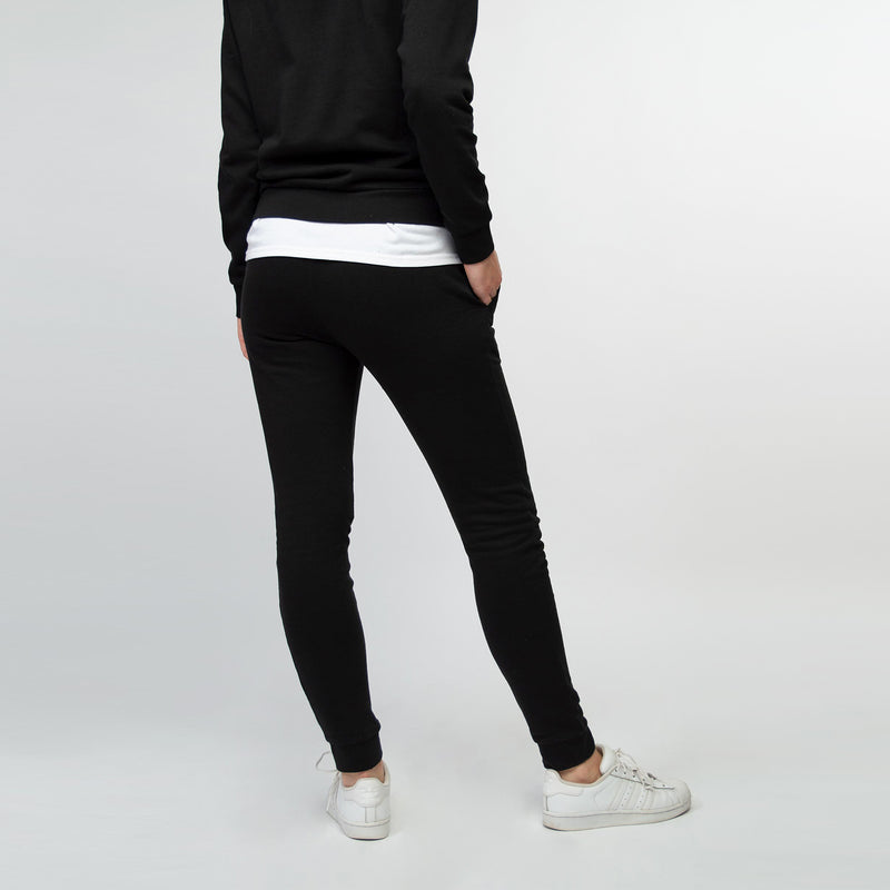 Jogging pants women black - HONEST BASICS