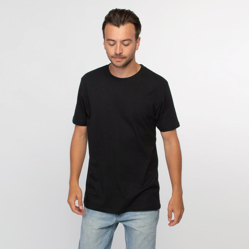 T-shirt men black - HONEST BASICS