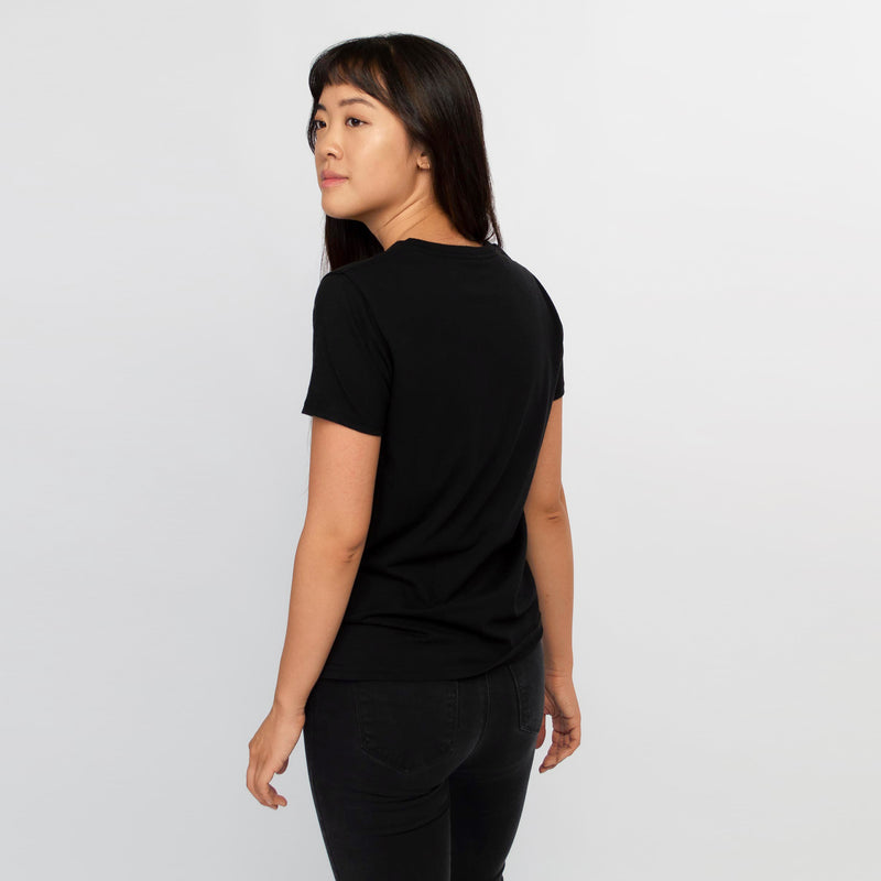T-shirt women black - HONEST BASICS