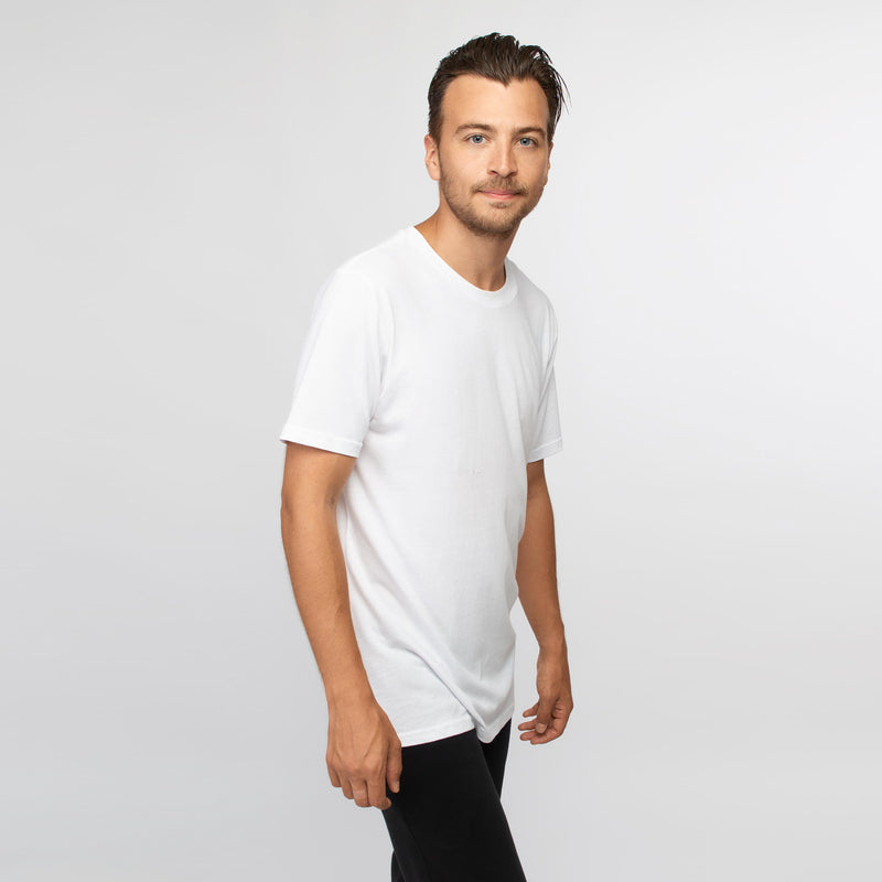 T-shirt men white - HONEST BASICS
