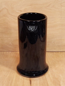 "Vintage MIKASA BLACK CRYSTAL 8"" Cylinder VASE ~ Kurata Japan Hand Blown"
