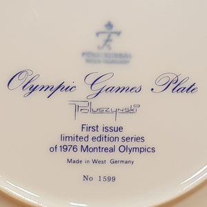 Vintage 1976 MONTREAL OLYMPIC GAMES PLATE ~ Ltd Ed First Issue FURSTENBERG China