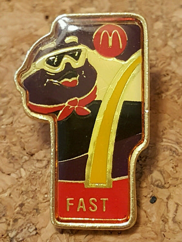 Vintage MCDONALDS CREW PIN ~ GRIMACE ~ Enamel on METAL Employee Lapel Flair