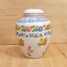 "Load Image into Gallery Viewer, Vintage Tastesetter SIGMA Romance 6"" GINGER JAR ~ Floral Design Gail Levites"