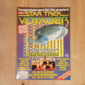 Starlog Chrome Cover STAR TREK VOYAGER Official Magazine #1 1995
