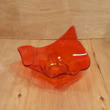 Load Image into Gallery Viewer, Vintage Retro ART GLASS ORANGE HANDKERCHIEF BOWL ~ Candy Nut Console Dish