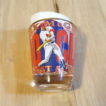 Load Image into Gallery Viewer, MARK MCGWIRE 500th HOMERUN SHOT GLASS St. Louis CARDINALS Baseball Aug 1999