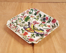 Load Image into Gallery Viewer, Vintage Thousand BUTTERFLIES PORCELAIN DISH ~ Eda MANN Floral Pattern ~ JAPAN