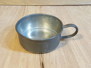Antique PEWTER Short MUG or Measuring Cup w/ Handle ~ #906 QUEEN CITY SILVER Co