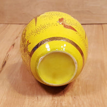 "Load Image into Gallery Viewer, Vintage 6"" PITCHER Hand Painted GOLD MORIAGE YELLOW Ground ~ Nippon or German ?"