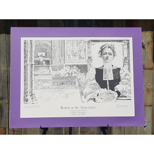 CHARLES DANA GIBSON Art PRINT ~ Episcopal Church ~ Gibson Girl ~ 37 x 28