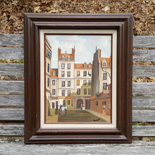 Load Image into Gallery Viewer, Vintage 19th Century STREET SCENE ~ SIGNED Oil on Canvas Cityscape PAINTING *
