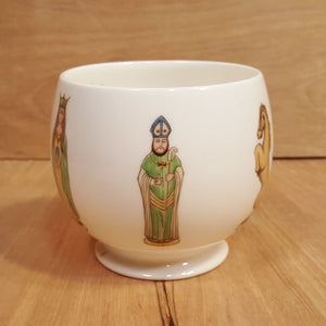 Vintage NORITAKE Bone CHINA CACHE POT ~ CHESS Men ~ Father's Day 1974 LTD ED