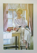 Load Image into Gallery Viewer, MARY JANE Q CROSS LTD ED PRINT ~ PORTRAIT WOMAN ~ Finger Painting SIGNED 10 x 16