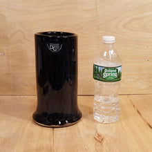 "Load Image into Gallery Viewer, Vintage MIKASA BLACK CRYSTAL 8"" Cylinder VASE ~ Kurata Japan Hand Blown"