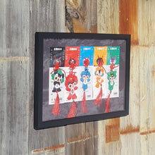 Load Image into Gallery Viewer, 2008 BEIJING OLYMPICS 5 Rings ~ FUWA MASCOT CHARMS ~ FRAMED Under Glass HTF - Super Funky Stuff