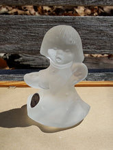 Load Image into Gallery Viewer, Vtg ANGEL CANDLE HOLDER Figurine ~ GOEBEL Kristallglas ~ Frosted CRYSTAL Glass