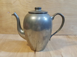 Vintage Connecticut CORNWALL PEWTER Gooseneck COFFEE POT Teapot w/ Lid