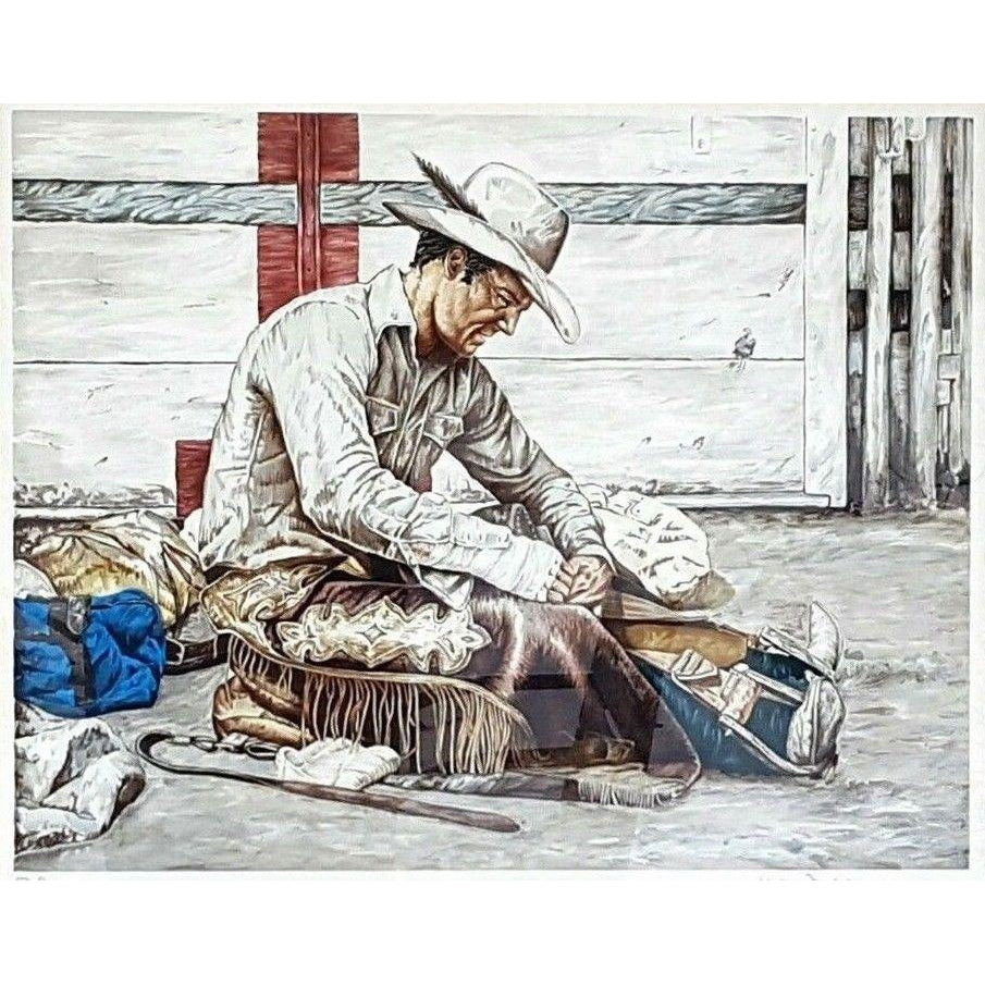 Kenneth M FREEMAN ~ COWBOY Art ~ SIGNED LITHOGRAPH Proof ~ Western Americana