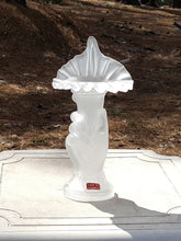Load Image into Gallery Viewer, Vintage JACK in the PULPIT Flower HAND VASE ~ FROSTED GLASS ~ Made in Portugal