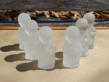 Load Image into Gallery Viewer, Vintage GOEBEL LOT of 6 ANGEL FIGURINE ~ Frosted CRYSTAL Glass Charlottenhutte
