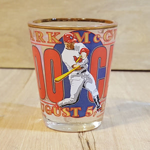 MARK MCGWIRE 500th HOMERUN SHOT GLASS St. Louis CARDINALS Baseball Aug 1999